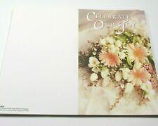 Wedding Bulletin Printable Ceremony Program Pink Daisies White Tulips 50 CT DIY