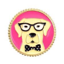 CG4033 Esmalte Pin de Solapa - Golden Labrador con Gafas