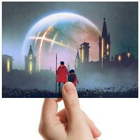 "Apocalyptic City Super Moon Small Photograph 6""x4"" Art Print Photo Gift #14081"