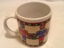 Christmas Mug w/ 5 nutcrackers in red and blue - produced for Houston Foods Co.