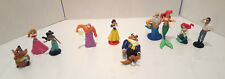 10pc Lot of Disney Classics Figurines Princess Cinderella Mermaid Cake Toppers