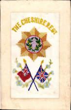 World War 1 Regimental Silk. The Cheshire Regiment. Flags.
