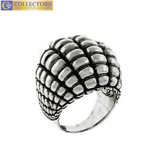 Ladies Authentic John Hardy 925 Sterling Silver Textured Dome Cocktail Ring