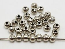 100 Silver Tone Metal Smooth Ball Round Beads 8mm Spacer Jewelry Finding