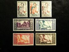 Laos Stamp Set Scott B1-B3, C1-C4 Mnh Cv21