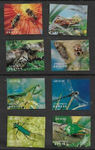 Bhutan 1969 2  x 3D sheet Nature with insects  and HONEY BEES, plastic surface