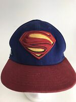 Rare New Era Superman Blue Red SnapBack Hat Cap Fast Free Shipping. wow