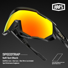 100% Percent Cycling Speedtrap Sunglasses - Soft Tact Black - 61023-100-43