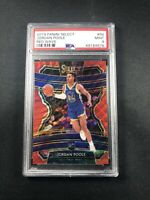 2019-20 PANINI SELECT JORDAN POOLE #94 CONCOURSE ROOKIE RC RED WAVE PSA 9