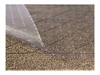 Resilia - 6' Clear Vinyl Plastic Floor Runner/Protector for Low Pile Carpet