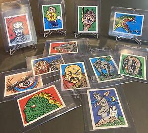 1961 Leaf Spook Stories Inserts : Twelve Mid-Grade Stickers : Rare
