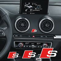 AUDI SLINE ADESIVO STICKERS DECALCOMANIA S3 S4 S5 S6 S-LINE A3 A4 A5 A6 TT Q3 Q4