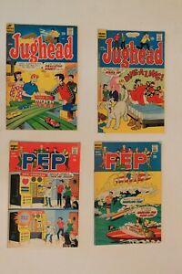 Lot 4 dif Vintage 1960s Archie  Jughead PEP Comics