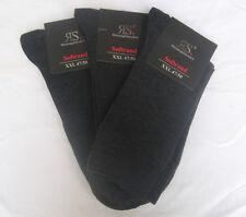 3 algunos XXL Calcetines sin goma con algodón y elastán GRIS 47-50