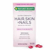 Extra Strength Hair Skin and Nails Vitamins by Nature's Bounty Optimal Soluti...