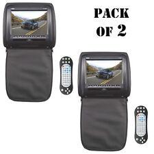 Lot of 2 New Pyle Wide Screen Hi-Res Headrest Monitor W/DVD/USB/SD/IR/FM-Trans