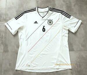 GERMANY NATIONAL TEAM 2012 2014 #6 KHEDIRA HOME FOOTBALL SOCCER SHIRT JERSEY 2XL