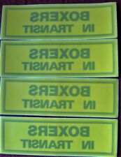 4  BOXERS  IN  TRANSIT---- YELLOW STICKERS