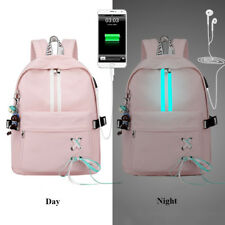 Fashion Anti Theft Reflective Women Backpack School Bags Laptop USB Charge Girls