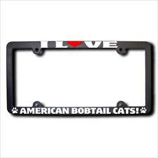 American Bobtail Cats I Love Reflective License Frame