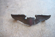 WWII rare named sterling pilot wings pin A.E. Co US Army Air Corps