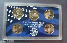 2007-S FIVE COIN STATE QUARTER CAMEO PROOF SET IN MINT HOLDER NO BOX OR COA  2-7