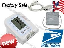FDA Digital upper arm Blood Pressure Monitor adult NIBP cuff+SPO2 probe+Software