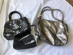 Bundle - Two bags & other-  1 fiorelli flower design bag & silver colour bag