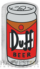 2019 THE SIMPSONS - DUFF BEER - 1 OZ. SILVER COIN - WITH OGP/COA - MINTAGE 5,000