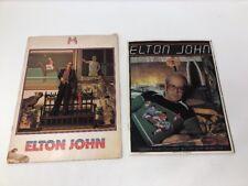 Elton John 1974 & 1976 Concert Books Program Lot Louder Than Concorde Not Quit