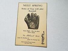 Alfred Al Reach 1925 Baseball Glove Advertisement Ad