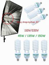 Studio Photography Video Daylight CFL Light Lamp Bulbs 45W/135W/150W E27 110V