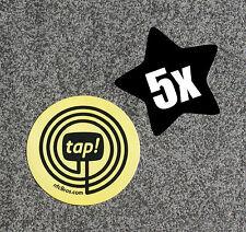 NFC día 5er set amarillo omingo 203 Sticker Adhesivo etiquetas-para todos los dispositivos NFC!!!