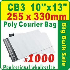 "1000 x CB3 255X330mm(10''X13"") Courier Bag Poly Mailer Satchel Lowest Price Gtee"