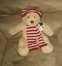 "New 12"" Aeropostale Holiday Bear Plush in Hat / Scarf"