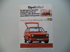 advertising Pubblicità 1978 OPEL KADETT CITY J
