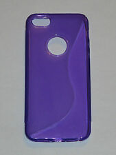 Purple S-Line TPU Soft Skin Case For Apple iPhone 5 5G