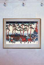 Tokaido Road 15x22 Hand Numbered Ltd. Ed. Japanese Print Hokusai Asian Art Japan