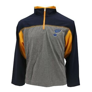 St. Louis Blues Official NHL Youth Kids Size Athletic Quarter Zip New with Tags