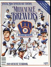 Milwaukee Brewers 1989 Official Yearbook w/Mint Cards jhscd