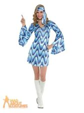 Disco Lady Ladies Fancy Dress 70s 1970s Groovy Funk Womens Adults Costume Outfit
