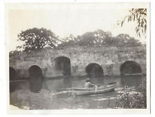 STOPHAM Sussex Row Boat at the Bridge - Vintage Photograph c1930