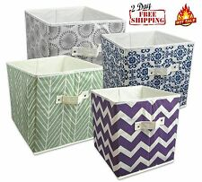 Ordinaire Storage Cube Basket Fabric Drawers Best Cubby Organizer Box Bin 2 Pack 18  Colors