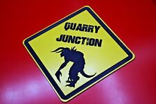 Quarry Junction Deathclaw Warning Sign Fallout New Vegas Engraved