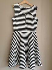 Primark Girl's White Black Striped Summer Dress Size 11 - 12 Years