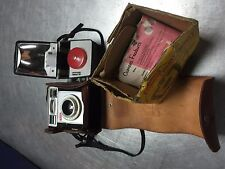 Vintage Antique Eastman Kodak Brownie Starmatic with Flash and Leather Case
