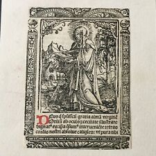Gravure Ancienne Vierge Marie XVIè Sancta Maria Dürer ? Holy Etching 16thC