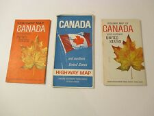 Lot of 3 CANADA Gas Service Station Road Map