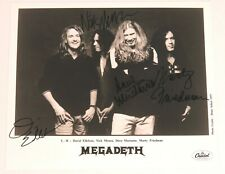 Dave Mustaine MEGADETH Signed Autograph 8x10 Photo by All 4 Members