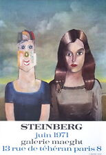 SAUL STEINBERG - Couple, 1971 - Rare Original 1971 Exhibition Poster Art Print